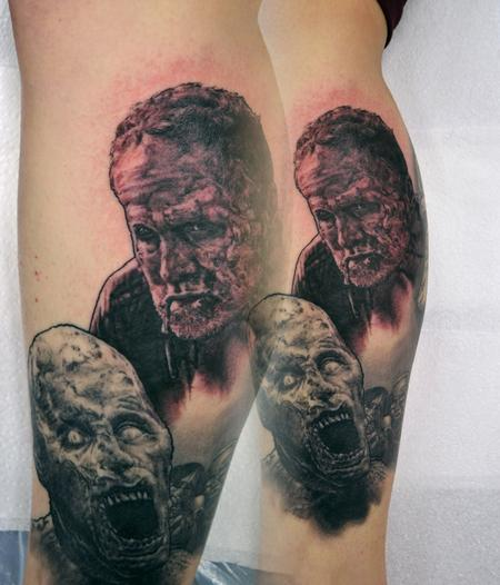 Tattoos - Walking Dead Zombie Merle Tattoo - 112127