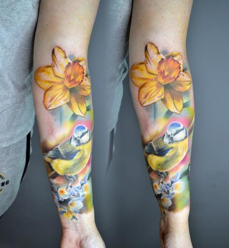 Tattoos - Bluetit in Nature Tattoo - 142119
