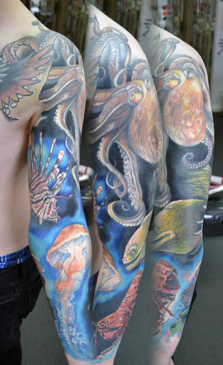 Tattoos - Underwater sleeve. - 106823
