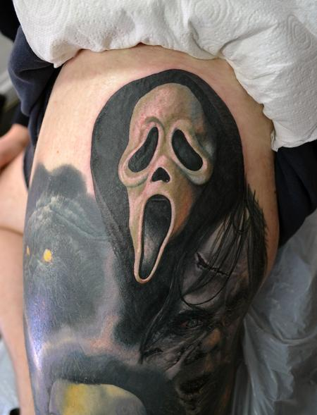 Tattoos - Ghostface Scream Portrait - 111411