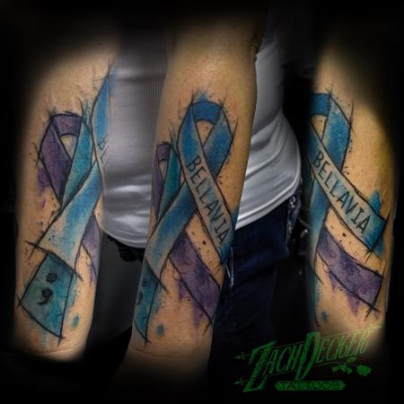 Tattoos - Watercolor Awareness Ribbons - 131996