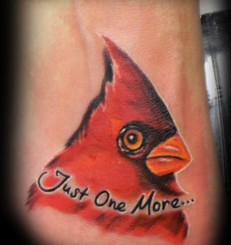 Tattoos - Cardinal and Lettering  - 140958