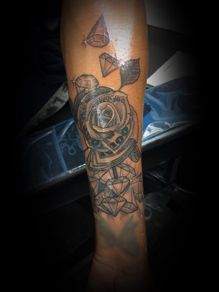 Tattoos - Money rose - 140553