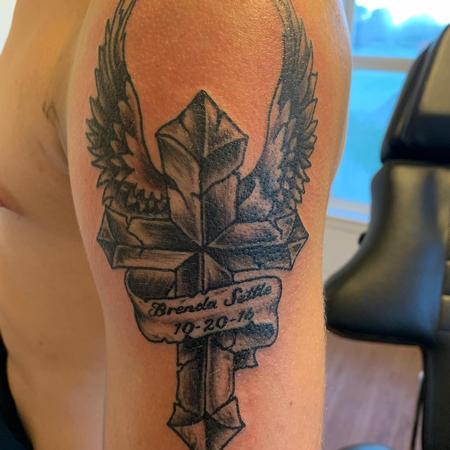 Tattoos - Cross memorial - 140147