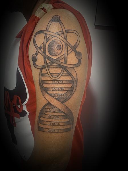 Tattoos - Atom DNAHelix - 139370