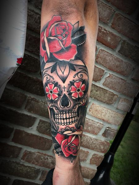 Dylan Talbert Davenport - Sugar skull and rose