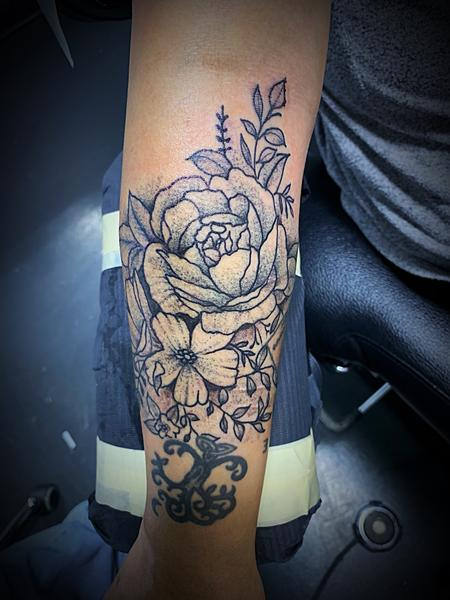 Tattoos - Stipple flowers - 138127