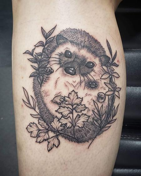 Tattoos - Hedgehog portrait tattoo - 142013