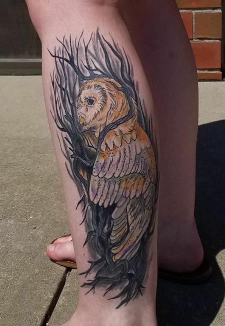 Tattoos - Owl and Tree - 140944