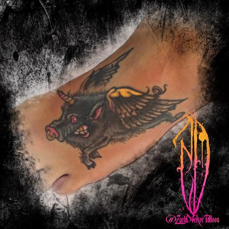 Tattoos - Unicorn Flying Boar - 129764
