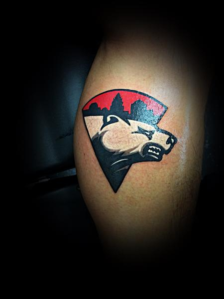 Tattoos - Charlotte Checkers Hockey Logo - 139408