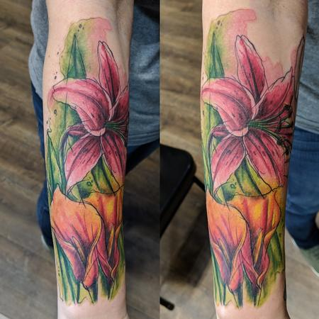 Tattoos - Lily watercolor  - 139418