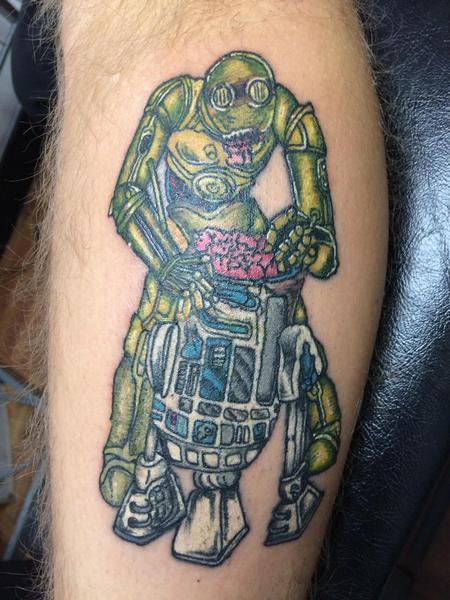 Tattoos - C3PO eating R2D2�s brains  - 134571