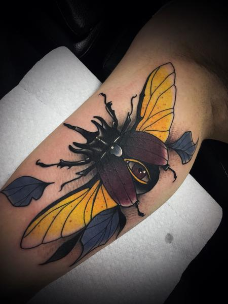 Tattoos - Neo traditional beetle - 133012