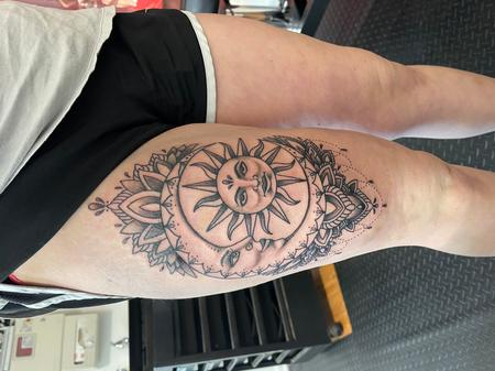 Tattoos - Ornamental sun and moon - 143193