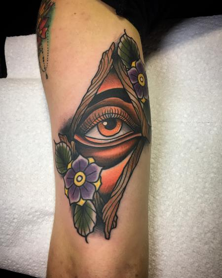 Tattoos - Old eye in the diamond thing - 132115