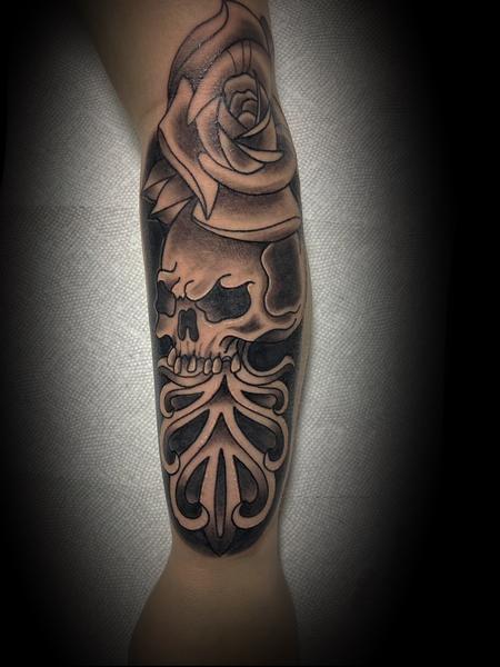 Tattoos - Skull rose - 143070