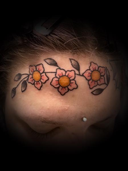 Tattoos - Face flowers  - 142148