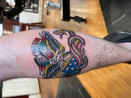 Tattoos - Traditional eagle and snake - 143177