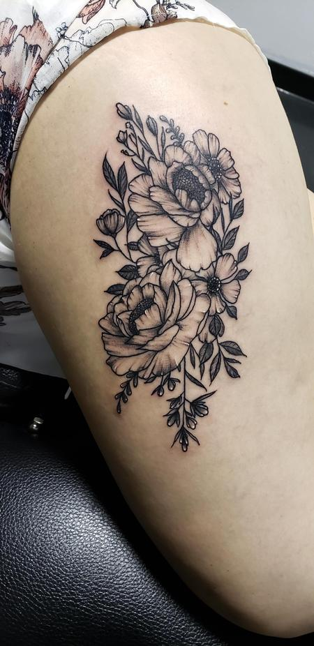 Tattoos - Floral Tattoo - 140214