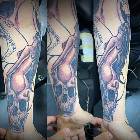 Tattoos - Lady skull - 138123