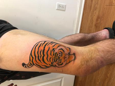 Tattoos - Uncomfortably Chubby Tiger - 142215