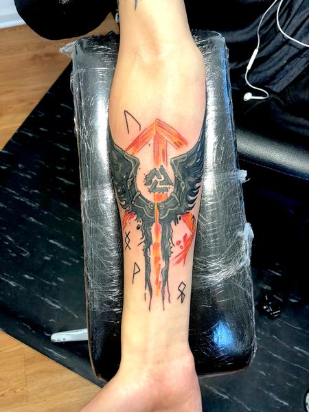 Tattoos - Valkyrie Wing - 142218