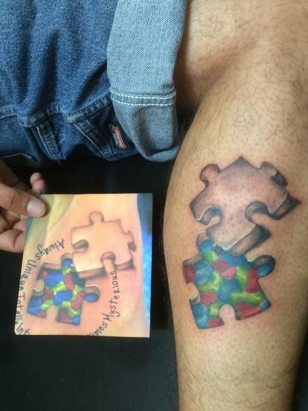 Tattoos - Puzzle pieces for autism - 133897