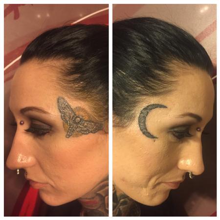 Tattoos - Moth moon - 125326