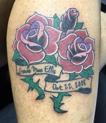 Tattoos - Collection of roses to remember someone special. - 126856