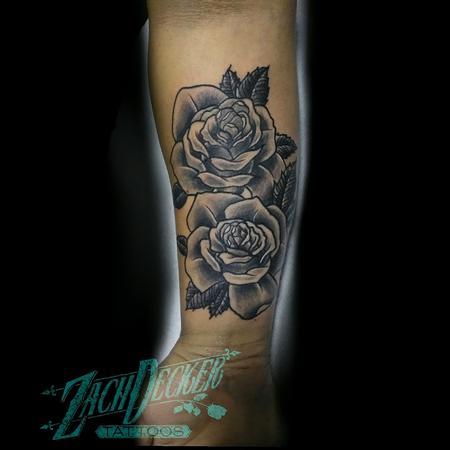 Tattoos - Opaque Grey Roses - 131101