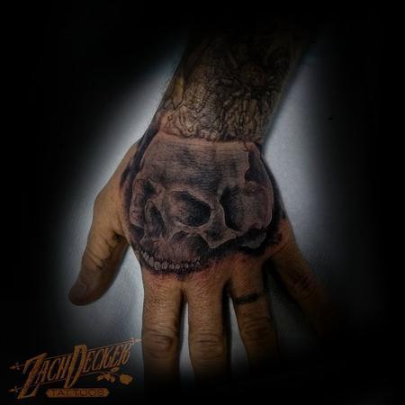 Tattoos - Black and Grey Skull - 131998