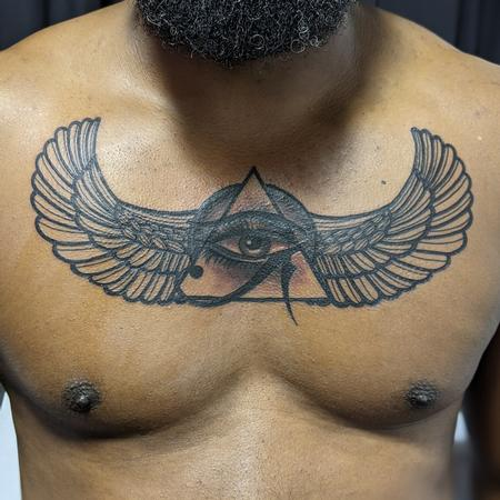 Tattoos - Egyptian chest design - 142614
