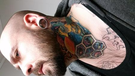Tattoos - bee neck - 133858