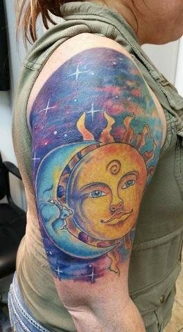 Tattoos - sun and moon - 134605
