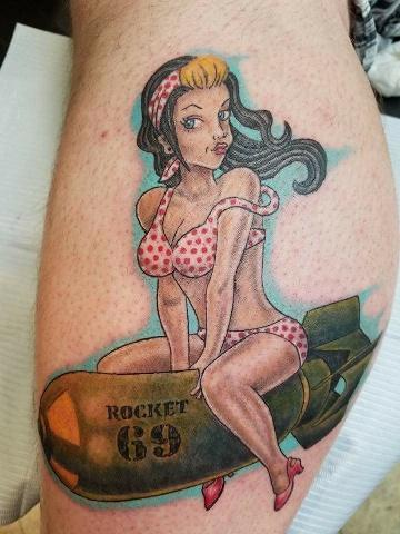 Tattoos - bomb girl - 134606