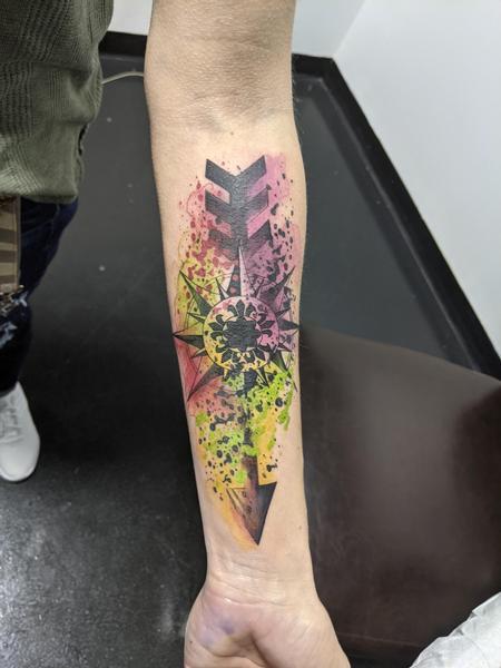 Jeff Hamm (MADISON) - Watercolor arrow