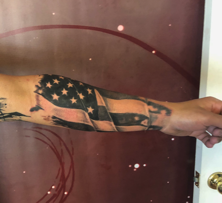 Tattoos - american flag - 138963
