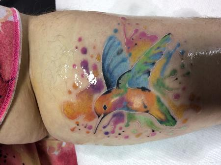 Tattoos - humming bird water color - 134599