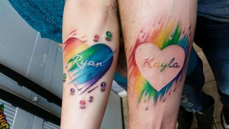 Tattoos - watercolor heart - 133957