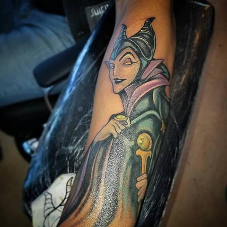 Maleficent Tattoo Design
