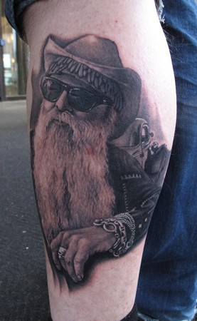 Bob Tyrrell - ZZ Top Tattoo