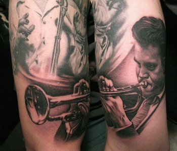 Tattoos - Chet Baker Tattoo - 40165