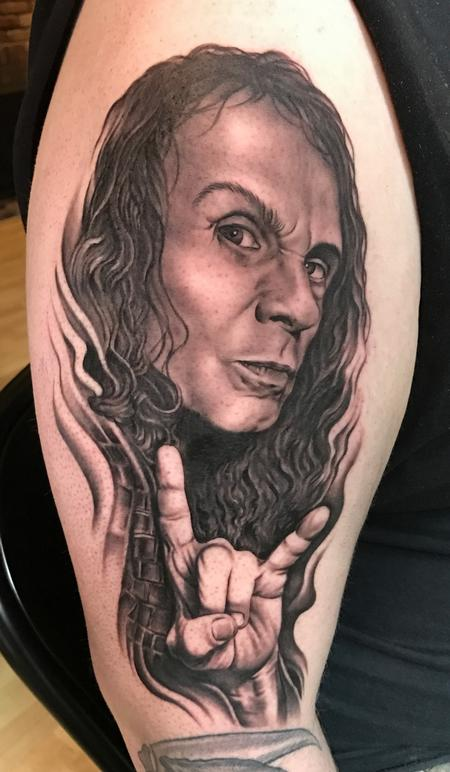 Bob Tyrrell - Ronnie James Dio Portrait Tattoo