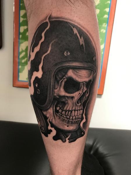 Bob Tyrrell - Biker Skull