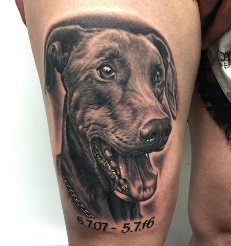 Tattoos - Dog Portrait - 125293