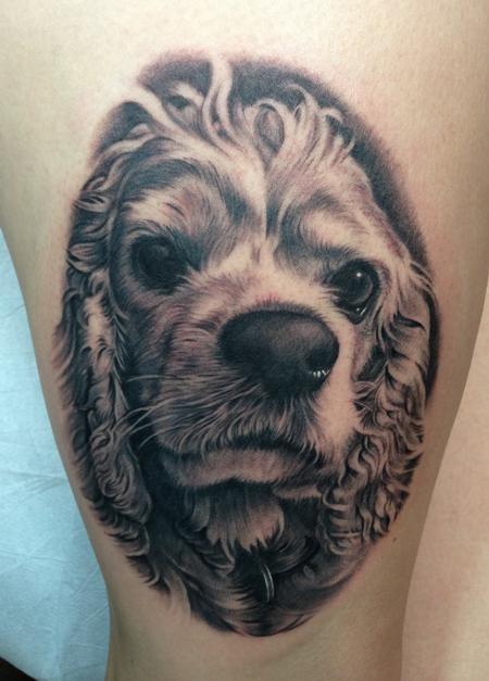 Tattoos - Dog tattoo - Cocker Spaniel - 78650