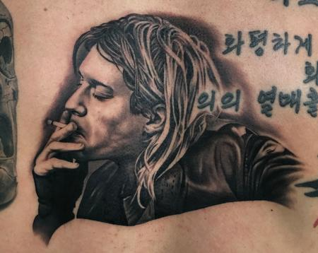 Tattoos - Kurt Cobain Tattoo - 128461
