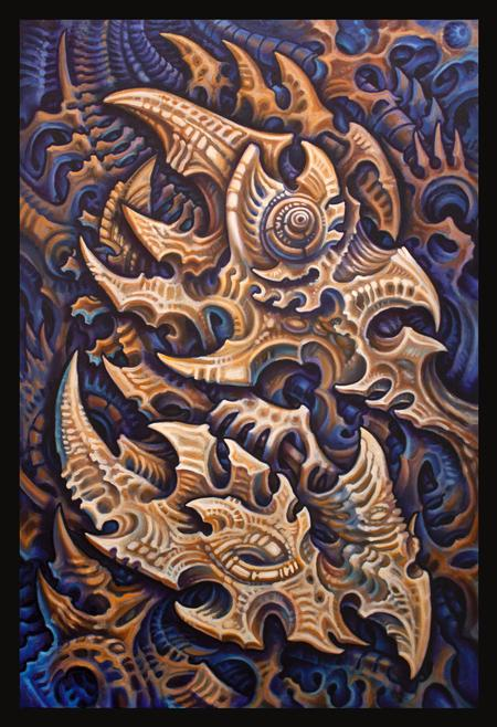 Tattoos - Oil on canvas 24in x 36in - 109645