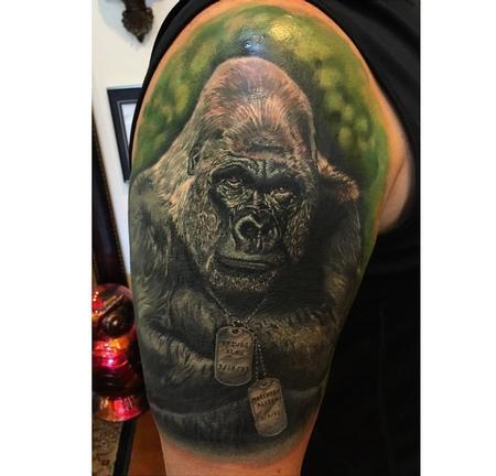Tattoos - Finished Gorilla  - 99767